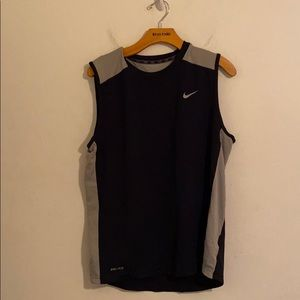 Nike large black and gray tank top dry fit